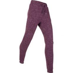 Spodnie dresowe miękkie niczym kaszmir, długie, Level 1 bonprix jagodowy melanż. Spodnie dresowe damskie marki bonprix. Za 109.99 zł.