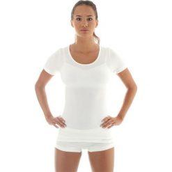Brubeck Koszulka damska z krótkim rękawem COMFORT WOOL biała r. L (SS11020). T-shirty damskie Brubeck. Za 131.75 zł.