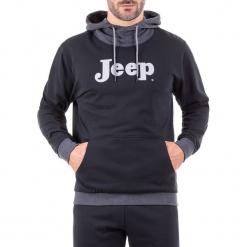 Bluza w kolorze czarno-ciemnoszarym. Czarne bluzy męskie Jeep, z nadrukiem. W wyprzedaży za 114.95 zł.