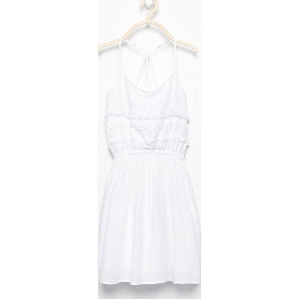 4ac3541fa2 Sukienka z ażurowymi plecami - Biały - Sukienki dla dziewczynek ...