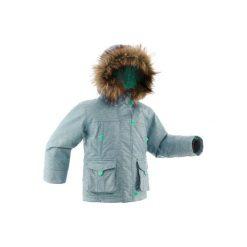 Kurtka SH500 X-WARM dla dzieci. Niebieskie kurtki i płaszcze dla dziewczynek QUECHUA. Za 169.99 zł.