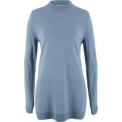 Sweter ze stójką bonprix matowy niebieski. Swetry damskie marki bonprix. Za 37.99 zł.