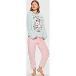 Dwuczęściowa piżama z jednorożcem - Niebieski. Niebieskie piżamy damskie Cropp. Za 89.99 zł.