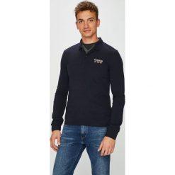 Napapijri - Longsleeve. Czarne bluzki z długim rękawem męskie Napapijri, z bawełny, polo. W wyprzedaży za 259.90 zł.