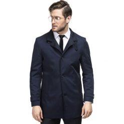 Płaszcz FLORIANO PSGS000064. Niebieskie płaszcze męskie Giacomo Conti, z bawełny. Za 699.00 zł.