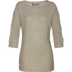 Sweter bonprix piaskowy. Brązowe swetry damskie bonprix. Za 119.99 zł.
