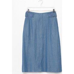 Simple - Spódnica. Szare spódnice damskie Simple, z denimu. W wyprzedaży za 299.90 zł.