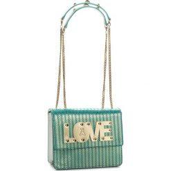 Torebka PATRIZIA PEPE - 2V8015/A4BJ-F1PD Glam Azure Love. Niebieskie torebki do ręki damskie Patrizia Pepe, z nubiku. W wyprzedaży za 739.00 zł.