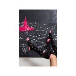 Podkolanówki Stardust Pink. Czarne skarpety damskie Mad socks, w kolorowe wzory, z bawełny. Za 39.00 zł.