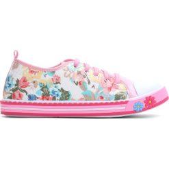 Różowe Trampki Pinky Rings. Czerwone buty sportowe dziewczęce Born2be, z materiału. Za 39.99 zł.