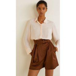 Mango - Koszula Basic. Szare koszule damskie Mango, z materiału, klasyczne, z klasycznym kołnierzykiem, z długim rękawem. Za 89.90 zł.