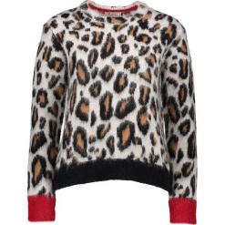 Sweter w kolorze brązowo-czarnym. Brązowe swetry damskie Gottardi, ze splotem. W wyprzedaży za 217.95 zł.