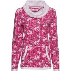 Bluza z lekkiego, lejącego materiału, długi rękaw bonprix różowy w kwiaty. Bluzy damskie marki KALENJI. Za 79.99 zł.