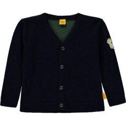 Sweter rozpinany w kolorze ciemnozielono-granatowym. Swetry dla chłopców marki Reserved. W wyprzedaży za 172.95 zł.