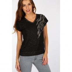 """Koszulka """"Mulan"""" w kolorze czarnym. Czarne t-shirty damskie Scottage. W wyprzedaży za 58.95 zł."""