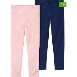 Legginsy (2 pary) w kolorze różowym i granatowym. Legginsy dla dziewczynek marki OROKS. W wyprzedaży za 42.95 zł.