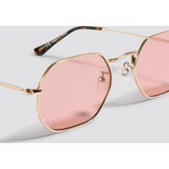 NA-KD Accessories Okulary przeciwsłoneczne Octagon - Pink,Gold. Okulary przeciwsłoneczne damskie marki QUECHUA. Za 60.95 zł.