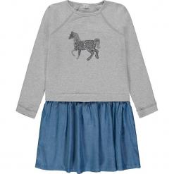 Sukienka w kolorze szaro-niebieskim. Niebieskie sukienki dla dziewczynek Königsmühle. W wyprzedaży za 89.95 zł.