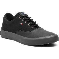 Tenisówki TOMMY HILFIGER - Oxford Sneaker FM0FM01938 Black 990. Czarne trampki męskie Tommy Hilfiger, z gumy. Za 349.00 zł.