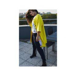 CYTRYNOWY PŁASZCZ. Żółte płaszcze damskie Aniess, z aplikacjami, z kaszmiru. Za 1,400.00 zł.