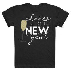 Christmas T-Shirt Koszulka Damska Cheers To The New Year M Czarny. Czarne t-shirty damskie Christmas T-Shirt. Za 45.00 zł.