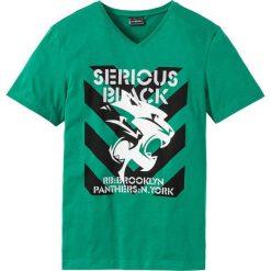 T-shirt Slim Fit bonprix zielony miętowy. T-shirty męskie marki Giacomo Conti. Za 24.99 zł.