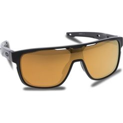 Okulary przeciwsłoneczne OAKLEY - Crossrange Shield OO9387-0631 Matte Black/24k Iridium. Czarne okulary przeciwsłoneczne męskie Oakley, z tworzywa sztucznego. W wyprzedaży za 549.00 zł.