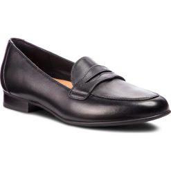 Półbuty CLARKS - Un Blush Go 261371704 Black Leather. Czarne półbuty damskie Clarks, ze skóry. W wyprzedaży za 279.00 zł.