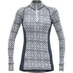 Devold Bluzka Damska Ona Woman Half Zip Neck, Night, L. Szare koszulki sportowe damskie Devold, z wełny, z długim rękawem. Za 419.00 zł.