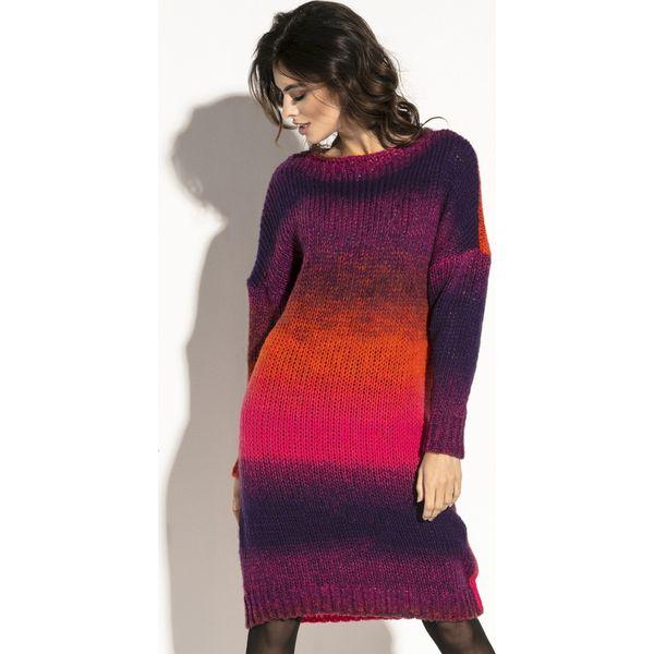 3dd111fc06 Wełniana sukienka ombre fb579 - Czerwone sukienki damskie marki ...