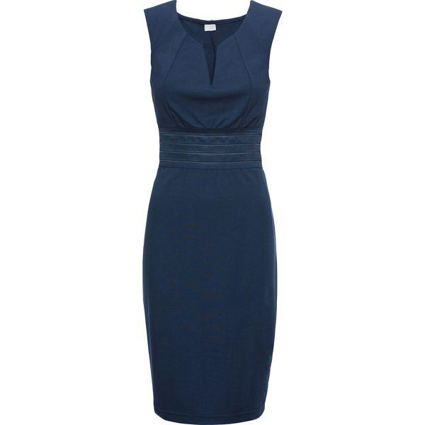 b15f8490ef Sukienka z prześwitującą siatkową wstawką bonprix ciemnoniebieski ...