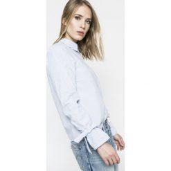 Vero Moda - Koszula Juljane. Szare koszule damskie Vero Moda, z bawełny, casualowe, z klasycznym kołnierzykiem, z długim rękawem. W wyprzedaży za 69.90 zł.
