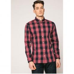 Premium by Jack&Jones - Koszula. Szare koszule męskie Premium by Jack&Jones, w kratkę, z bawełny, button down, z długim rękawem. W wyprzedaży za 79.90 zł.