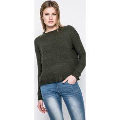 Answear - Sweter. Szare swetry damskie ANSWEAR, z dzianiny, z okrągłym kołnierzem. W wyprzedaży za 49.90 zł.