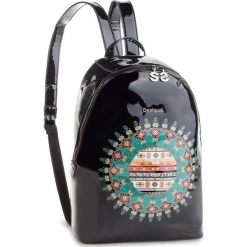 Plecak DESIGUAL - 18WAXO04 2000. Czarne plecaki damskie Desigual, ze skóry ekologicznej. Za 349.90 zł.