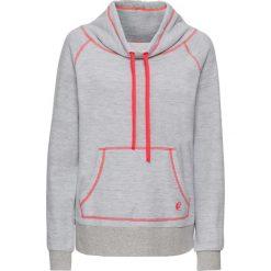 Bluza z polaru bonprix szary melanż - neonowy pomarańczowy. Bluzy damskie marki KALENJI. Za 49.99 zł.