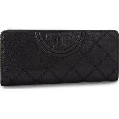 Duży Portfel Damski TORY BURCH - Fleming Distressed Slim Envelope Wallet 50272 Black 001. Czarne portfele damskie Tory Burch, ze skóry. Za 829.00 zł.