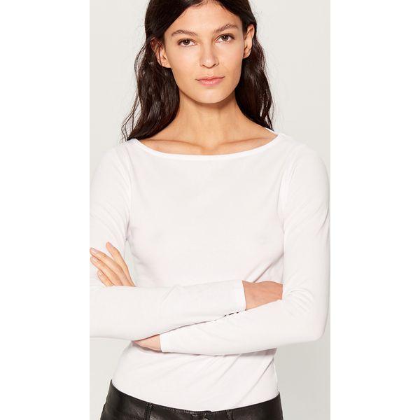 50cb2f460582 Bawełniana bluzka z długimi rękawami - Biały - Bluzki damskie marki ...