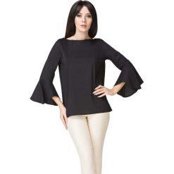 Czarna Bluzka z Hiszpańskim Rękawem. Czarne bluzki damskie Molly.pl, w jednolite wzory, z jeansu, biznesowe, z długim rękawem. Za 149.00 zł.