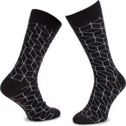 Skarpety Wysokie Męskie DOTS SOCKS - DTS-SX-111-X Czarny. Czarne skarpety męskie Dots Socks, z bawełny. Za 19.90 zł.