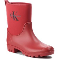 Kalosze CALVIN KLEIN JEANS - Philippa RE9811  Scarlet. Czerwone kozaki damskie Calvin Klein Jeans, z jeansu. Za 509.00 zł.