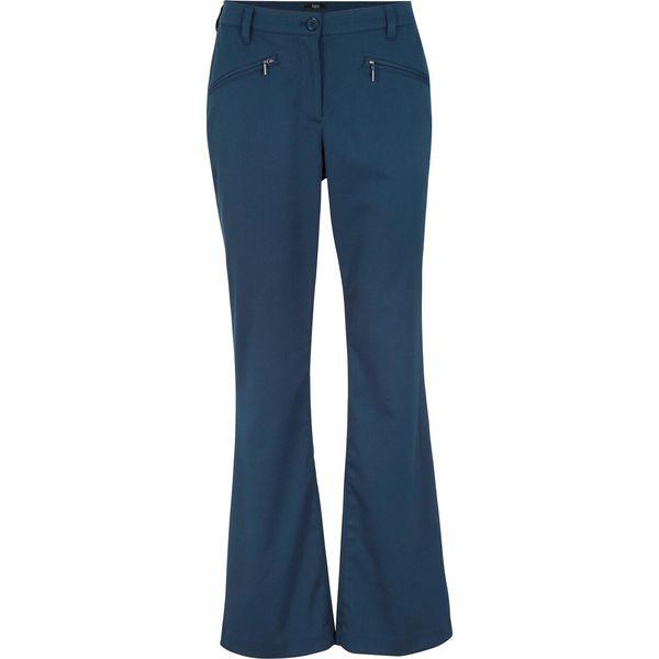 Spodnie z bengaliny z wygodnym paskiem WIDE bonprix ciemnoniebieski