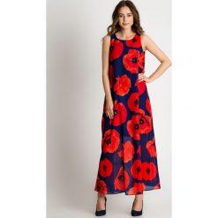 Sukienka maxi w czerwone maki BIALCON. Czerwone sukienki damskie BIALCON, na lato, w kolorowe wzory. W wyprzedaży za 293.00 zł.