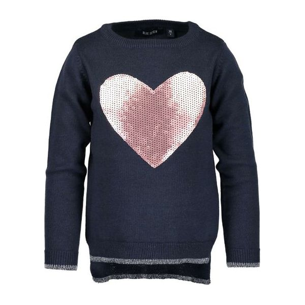 25bcc72328 Blue Seven Sweter Dla Dziewczynki 122 Niebieski - Swetry dla ...