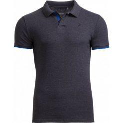 Koszulka polo męska TSM610 - ciemny szary melanż - Outhorn. Szare koszulki polo męskie Outhorn, na lato, melanż, z bawełny. W wyprzedaży za 39.99 zł.