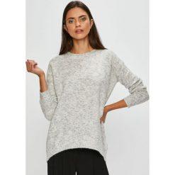 Medicine - Sweter Basic. Szare swetry damskie MEDICINE, z dzianiny, z okrągłym kołnierzem. Za 99.90 zł.
