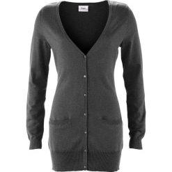 Długi sweter rozpinany bonprix szary melanż. Kardigany damskie marki KALENJI. Za 59.99 zł.