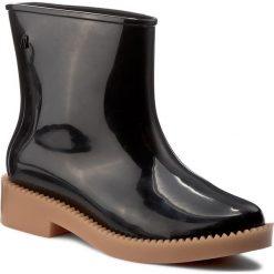 Kalosze MELISSA - Rain Drop Boot Ad 32185 Black/Beige 51496. Czarne kozaki damskie Melissa, z materiału. W wyprzedaży za 279.00 zł.