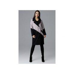 Płaszcz M626 Czarny-Beż. Czarne płaszcze damskie Figl, eleganckie. Za 299.00 zł.