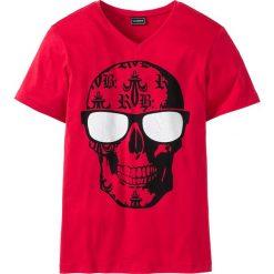 T-shirt Slim Fit bonprix czerwony. T-shirty męskie marki Giacomo Conti. Za 37.99 zł.